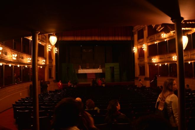 Interior do teatro de Solis, edifício em excelente estado de conservação de Montevidéu.