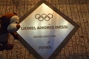 Placa de Lionel Messi em Rosário