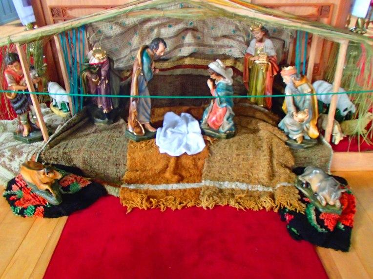 Presépio natalino chileno - falta Jesus!