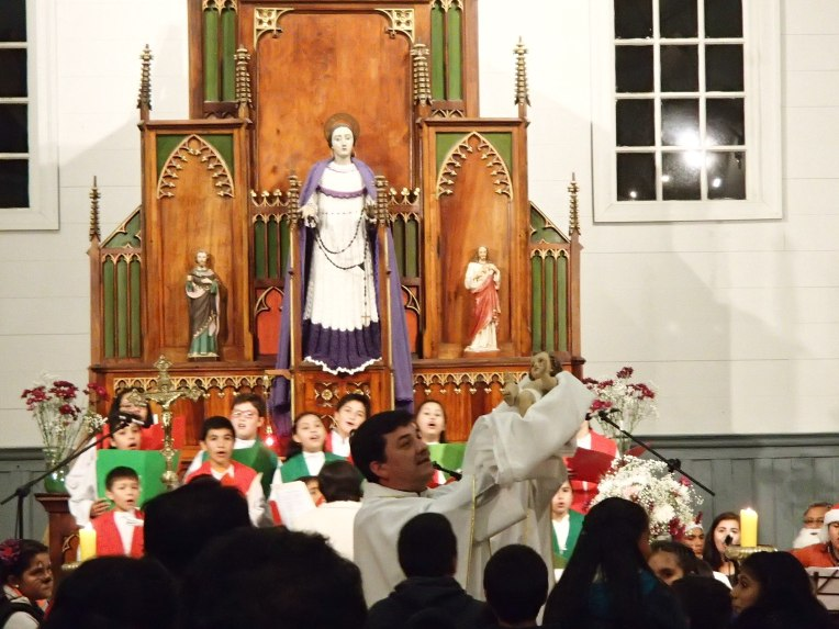 Missa de natal em Chiloé